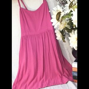 Old Navy fit and flare spaghetti strap dress  med